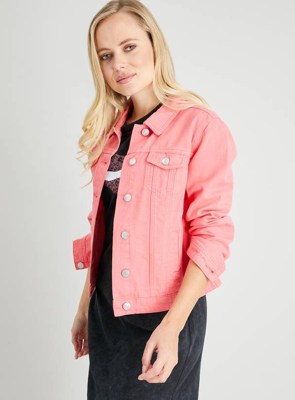 Coral Twill Denim Jacket - 14