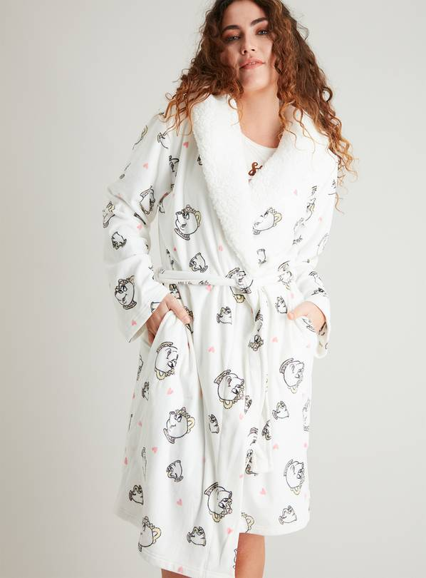 Disney Mrs Potts & Chip Cream Dressing Gown - L