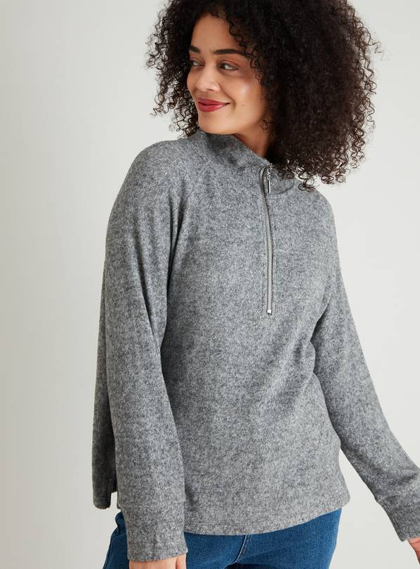 Charcoal Grey Half Zip Sweatshirt - 22