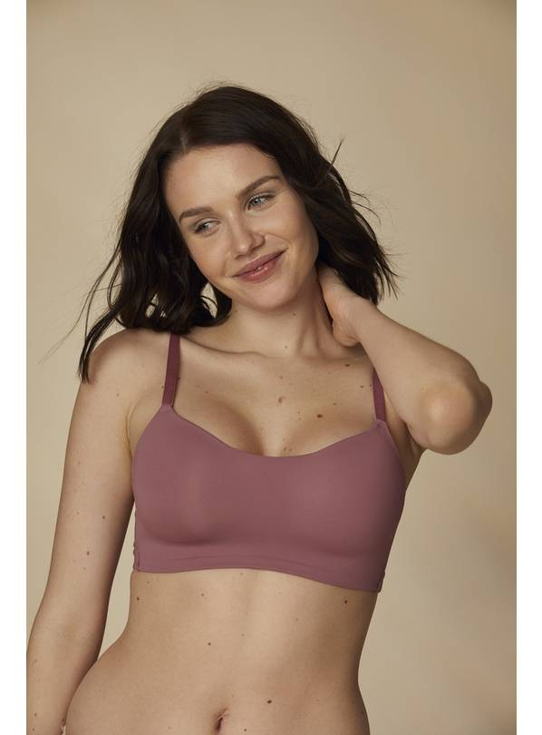 Pink Scoop Neck Bra - 38D