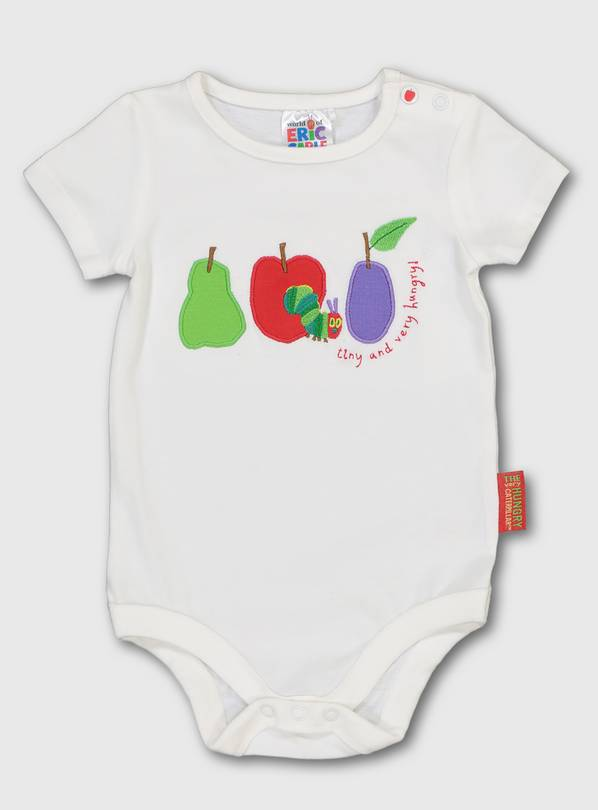 The Very Hungry Caterpillar White Bodysuit - 3-6 months