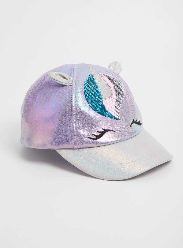Purple Shiny Unicorn Cap - 10-13 years