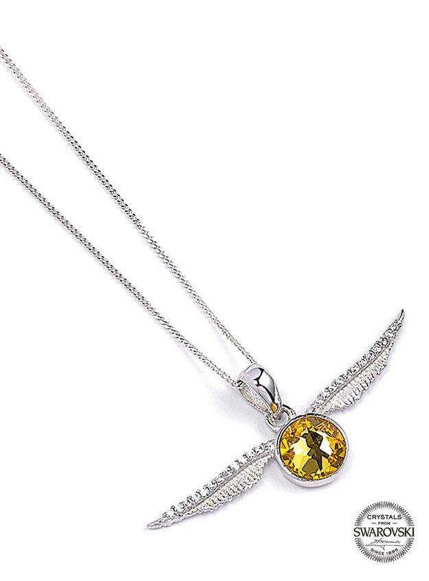 Harry Potter Golden Snitch Swarovski Crystal Encrusted Sterling Silver  Necklace