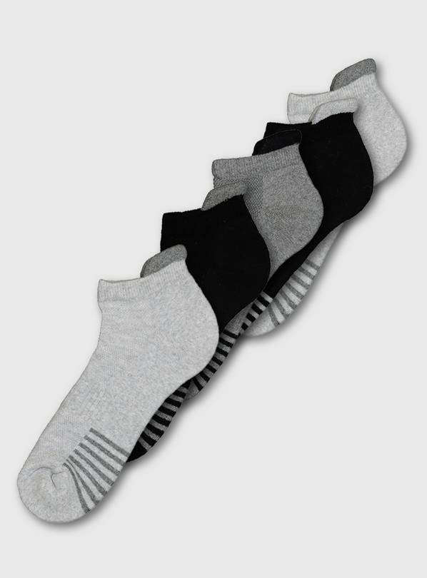 Active Multi Arch Stripe Support Trainer Socks 5 Pack - 9-12