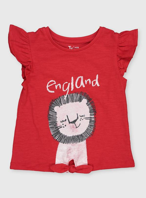 Red 'England' Lion T-Shirt - 9-12 months
