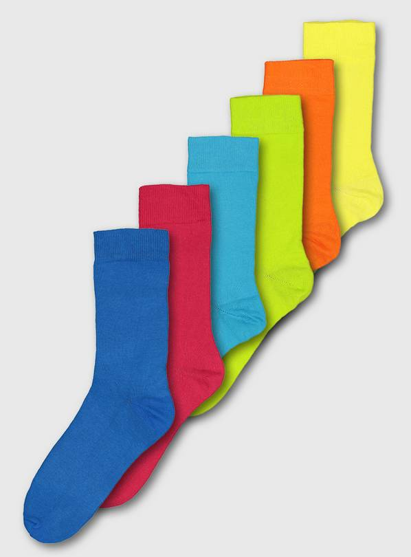 Tropical Brights Stay Fresh Socks 7 Pack - 9-12