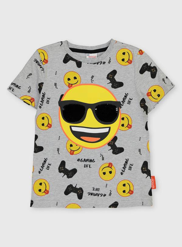 Grey Emoji Sequin T-Shirt - 4 years