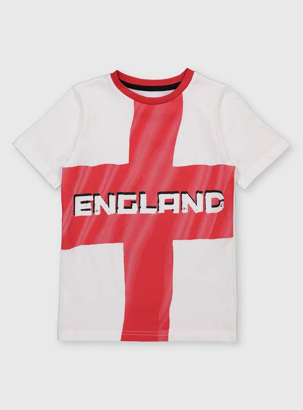 White England Flag T-Shirt - 11 years