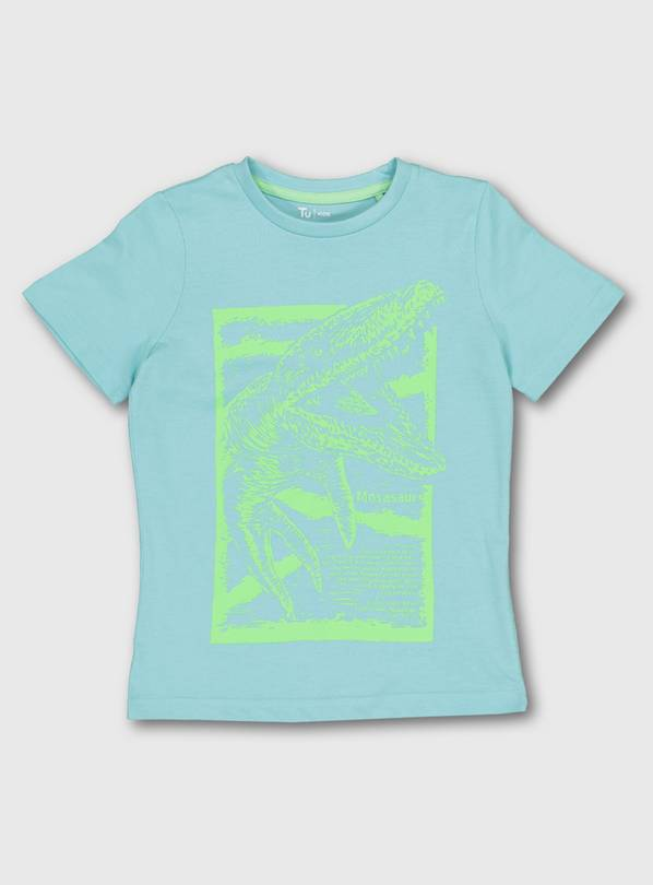 Blue & Lime Dinosaur Graphic T-Shirt - 12 years