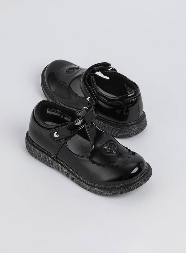 Black Patent T-Bar School Shoes - 10 Infant