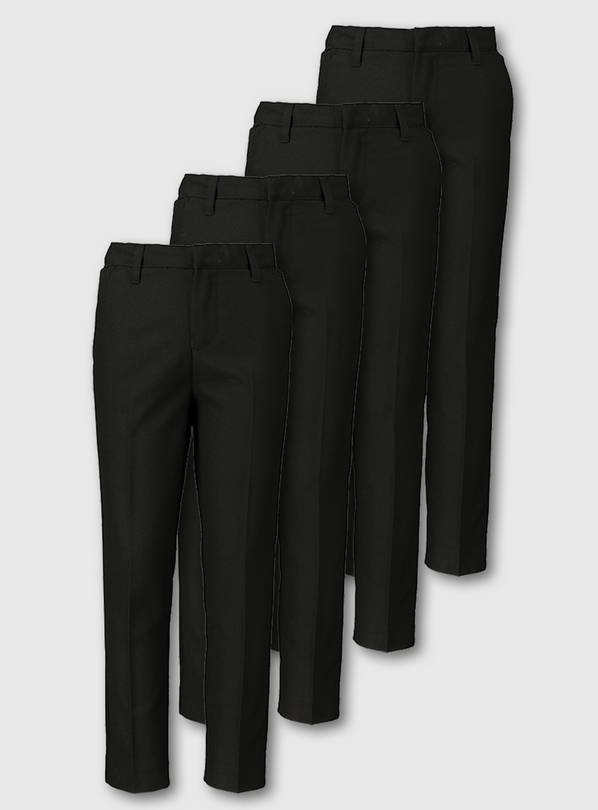 Black Skinny Fit Trousers 4 Pack - 4 years