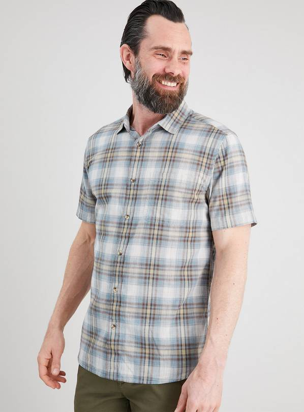 Multi Check Regular Fit Short Sleeve Shirt - XXXXL