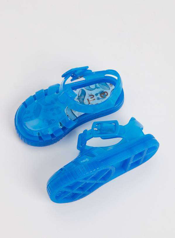 Blue Jelly Sandals - 4 Infant