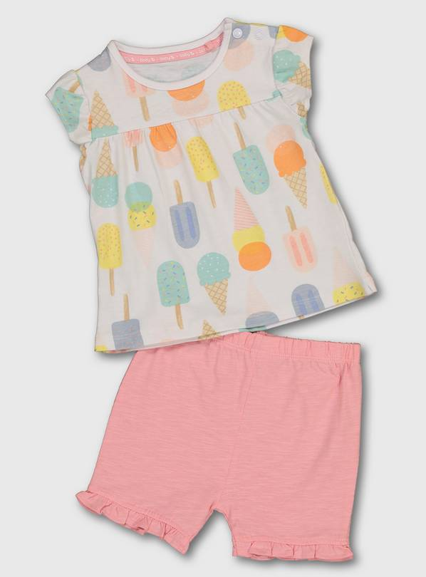 Ice Cream Print Top & Shorts - Up to 1 mth