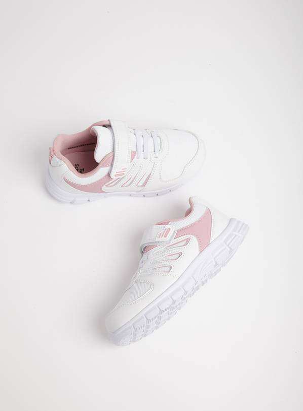 White & Pink School Trainers - 6 Infant