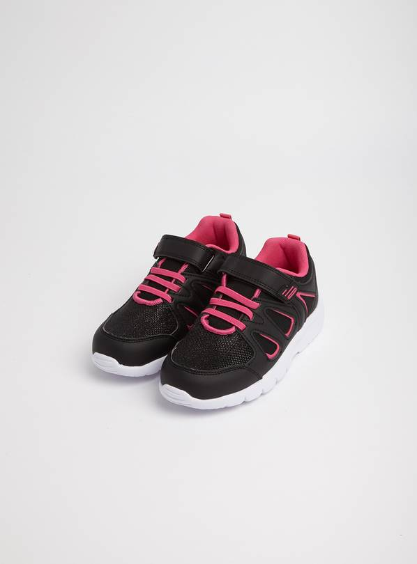 Pink & Black Trainers - 6 Infant