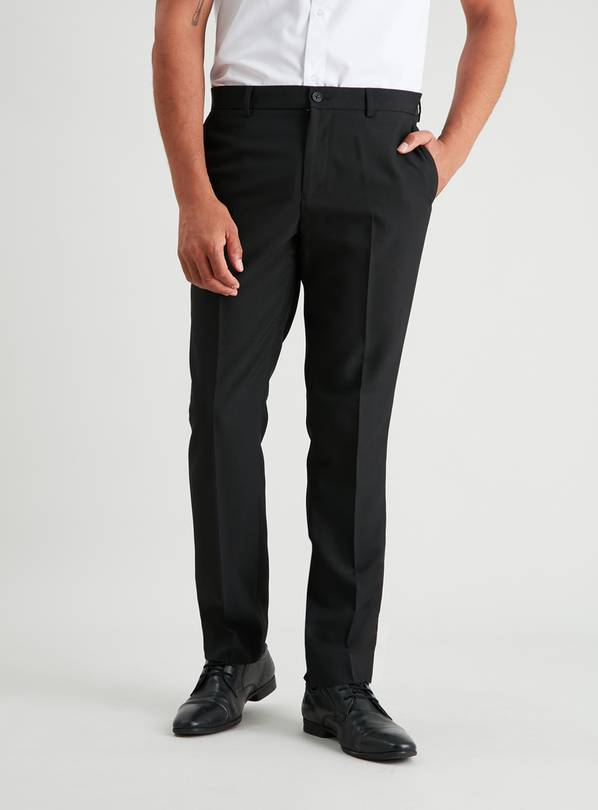Black Slim Fit Suit Trousers - W40 L35