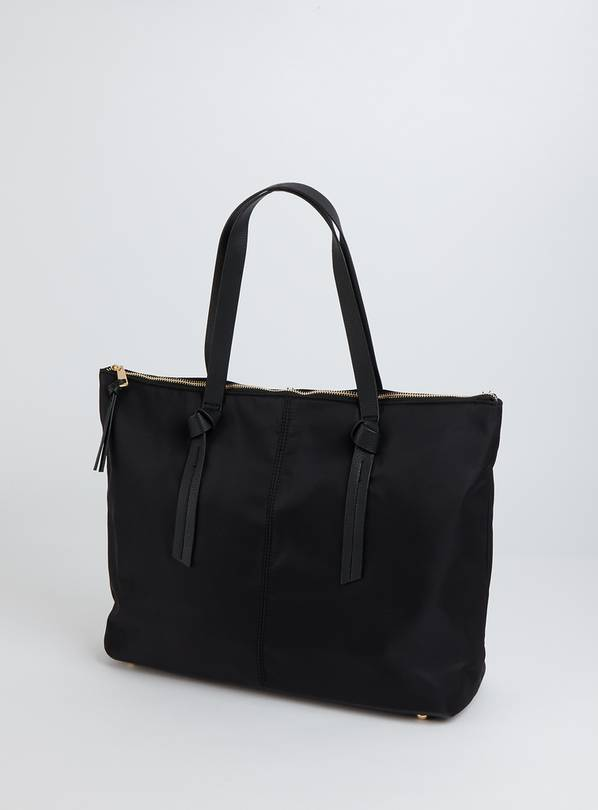 Black Nylon Shopper Bag - One Size