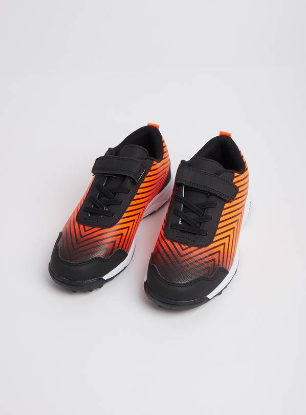 Orange & Black Astroturf Football Trainers - 7 Infant