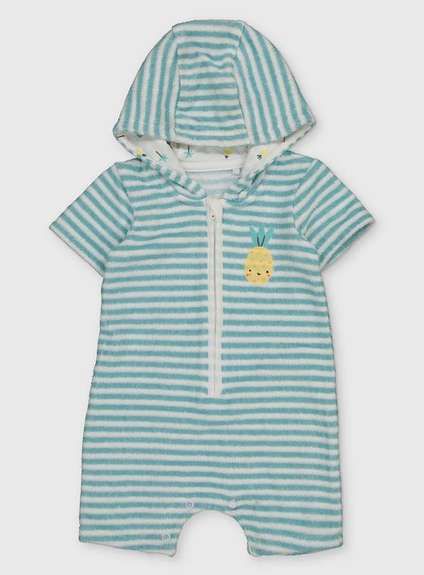 Stripe Towelling Romper - 3-6 months