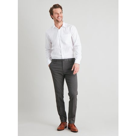 Brown Dogtooth Check Slim Fit Suit Trousers - W48 L31