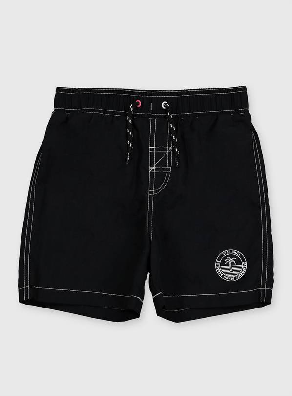 Black Swim Shorts - 4 years