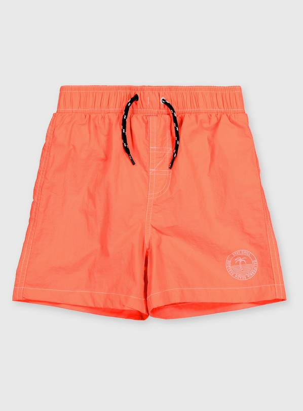 Coral Woven Swim Shorts - 6 years