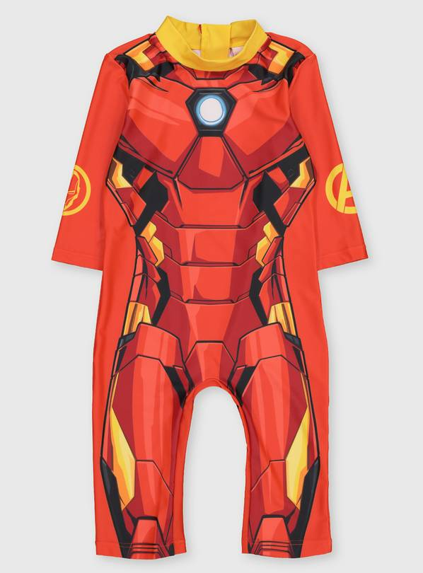 Marvel Avengers Iron Man All In One Sunsuit - 1.5-2 years
