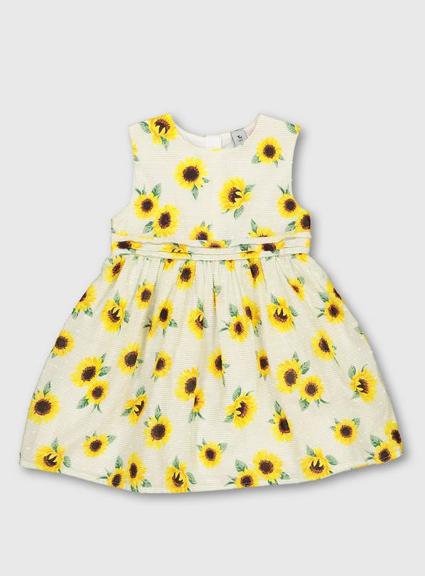Sunflower Print Occasion Dress - 1.5-2 years