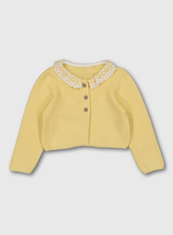 Yellow Clown Collar Cardigan - 3-6 months