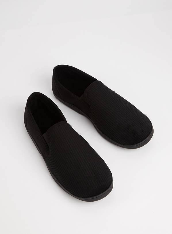 Black Full Slippers With Arch Support - 12