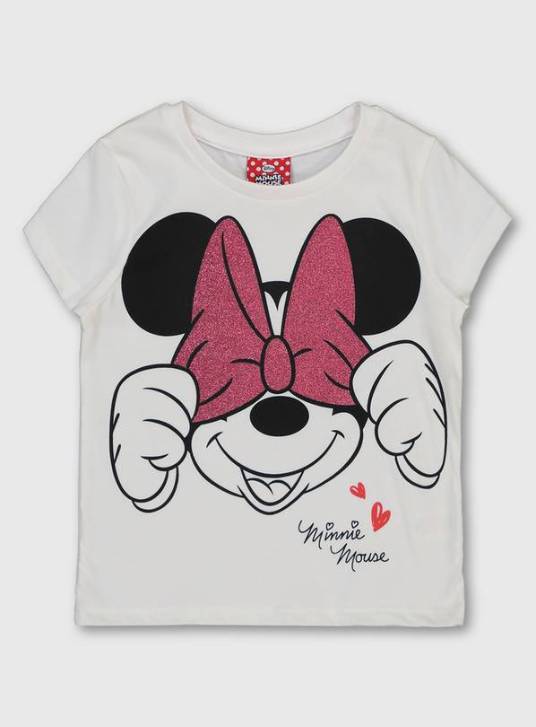Disney Minnie Mouse White T-Shirt - 1.5-2 years