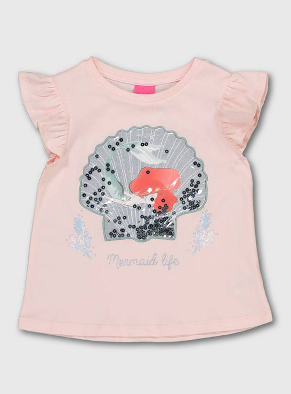 Disney The Little Mermaid Pink T-Shirt - 1-1.5 years