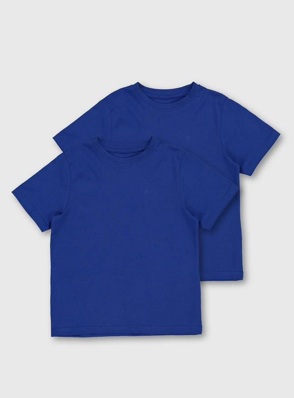 Blue Crew Neck T-Shirt 2 Pack - 12 years