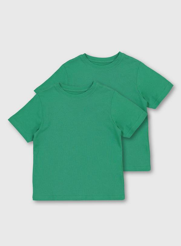 Green Crew Neck T-Shirt 2 Pack - 6 years