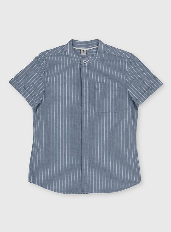 Blue Pinstripe Shirt - 13 years