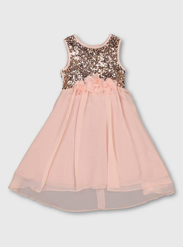 Pink Sequin Bodice Occasion Dress - 5 years