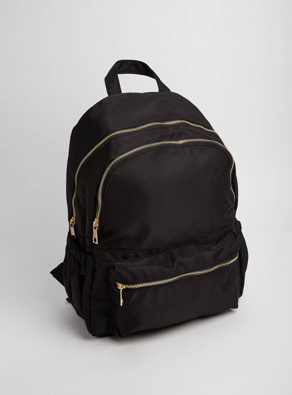 Black Synthetic Backpack - One Size
