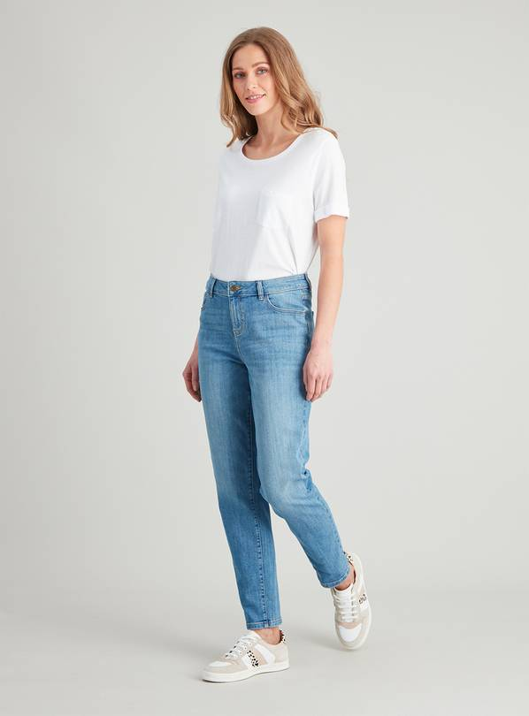 Lightwash Denim Girlfriend Jeans - 10