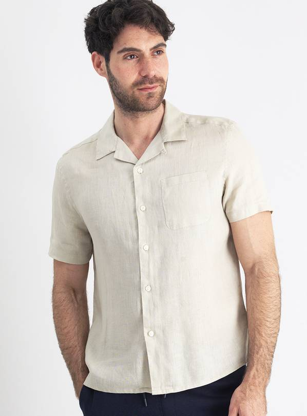 Stone Regular Fit Linen Shirt - XL