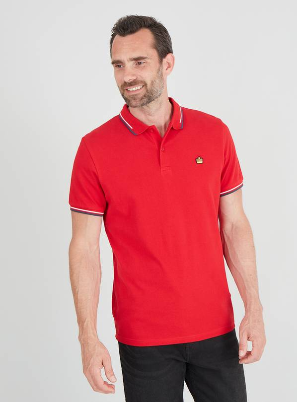 Red Tipped Short Sleeve Polo - XS