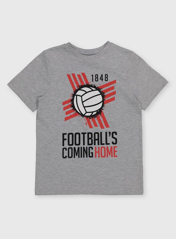 Grey Euros Football's Coming Home T-Shirt - 8 years