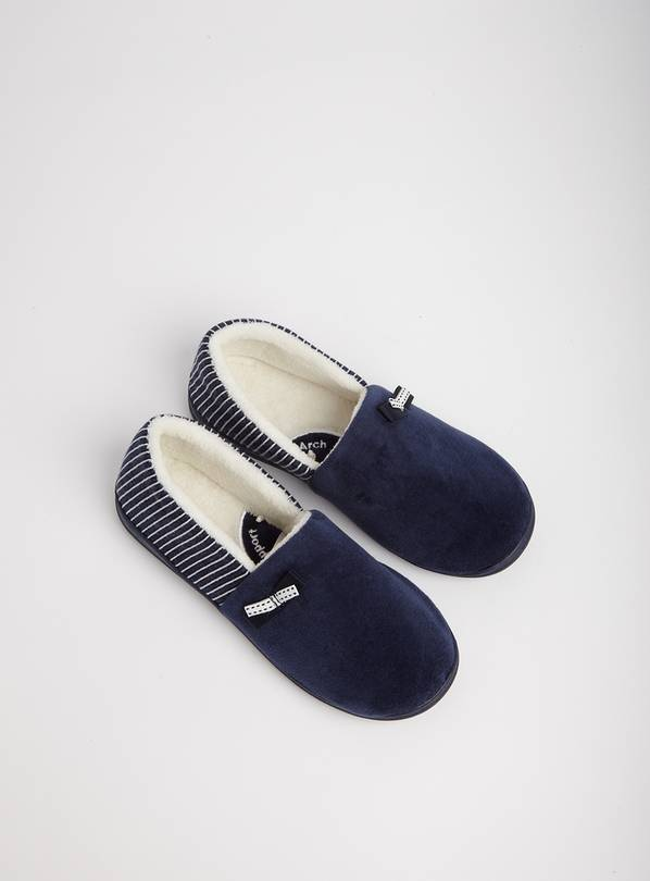 Navy Stripe Full Slipper - 6