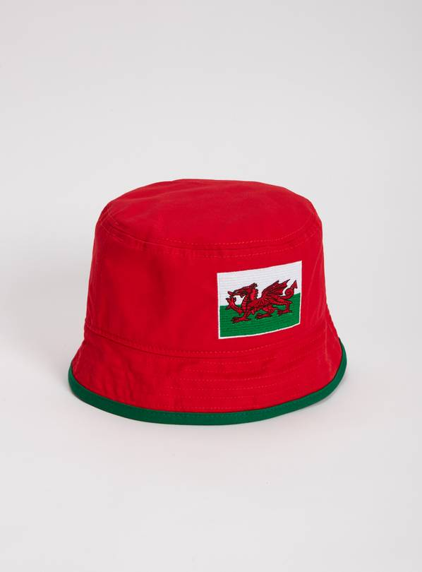 Red Wales Football Bucket Hat - One Size