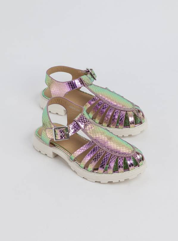 Metallic Purple Fisherman Sandal - 4