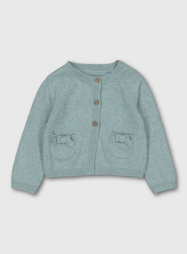 Teal Cardigan With Pockets - 6-9 months