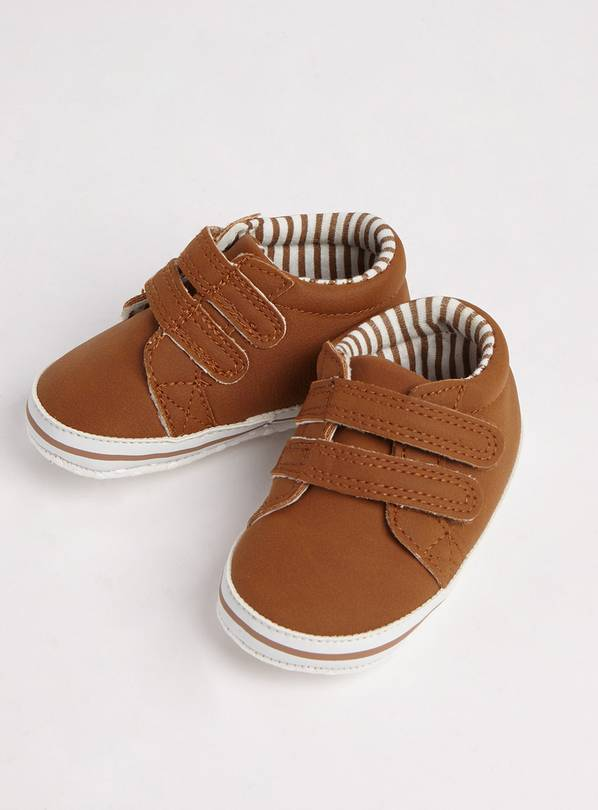 Brown Twin Strap Shoes - Up to 3 mths