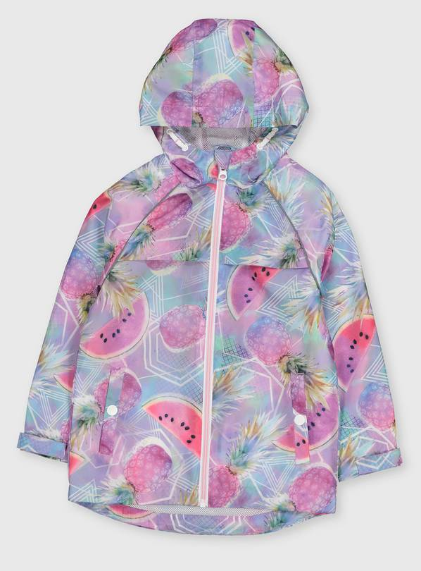 Pineapple Print Hooded Raincoat - 9-10 years