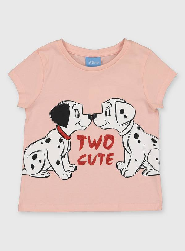 Disney 101 Dalmatians Pink T-Shirt - 3-4 years