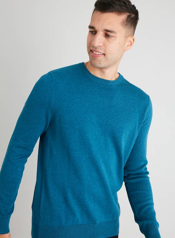 Teal Crew Neck Jumper - S